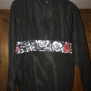 Half zip fleece Mens raincoat